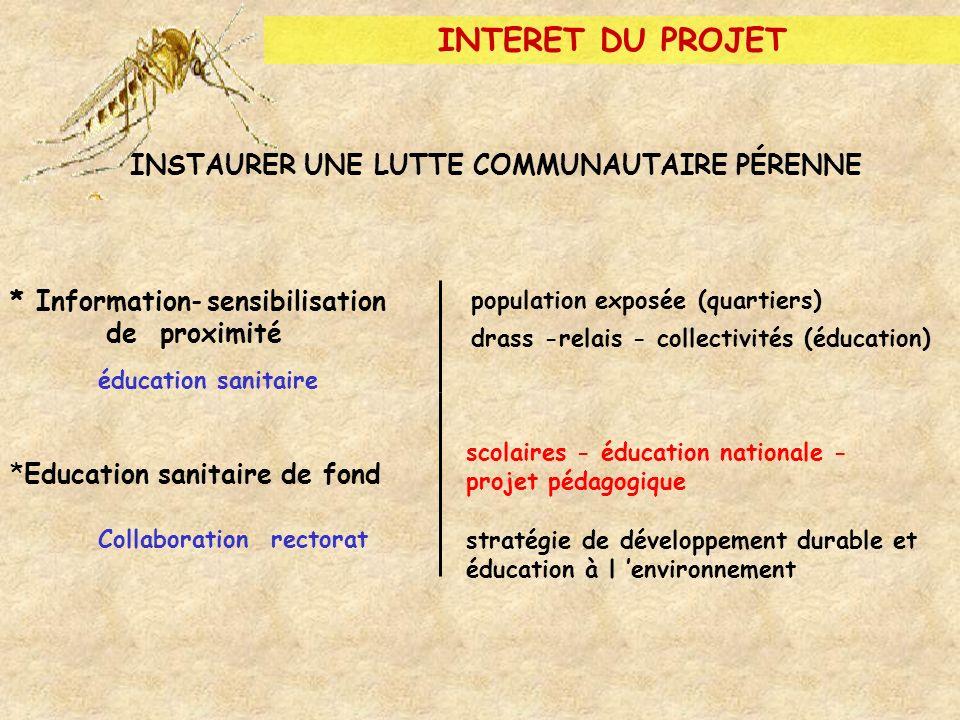 INTERET DU PROJET (2) Les moustiques font partie du quotidien des élèves Répondent à : curiosité et enthousiasme des enfants Aborder différents aspects de la découverte du moustique.