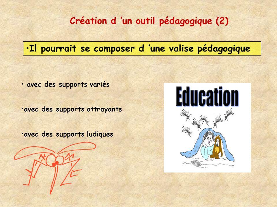 Création d un outil pédagogique (2) Il pourrait se composer d une valise pédagogique avec des supports variés avec des supports attrayants avec des su