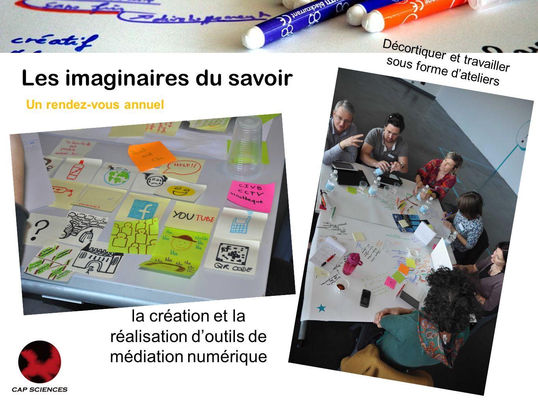 Les imaginaires du savoir la création et la réalisation doutils de médiation numérique Décortiquer et travailler sous forme dateliers Un rendez-vous annuel
