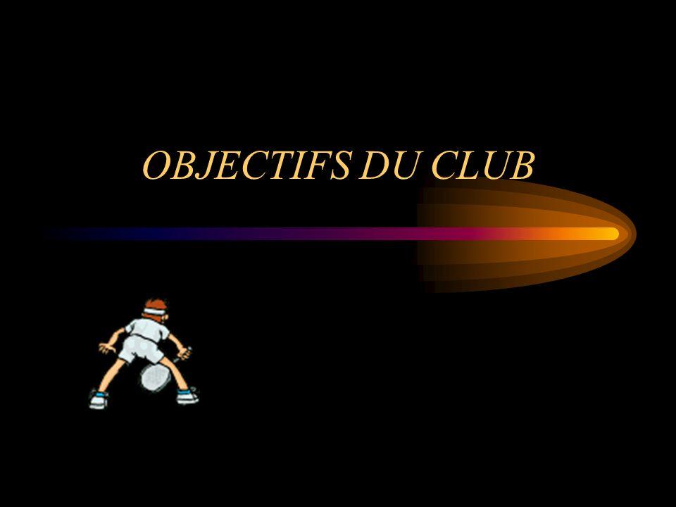 OBJECTIFS DU CLUB