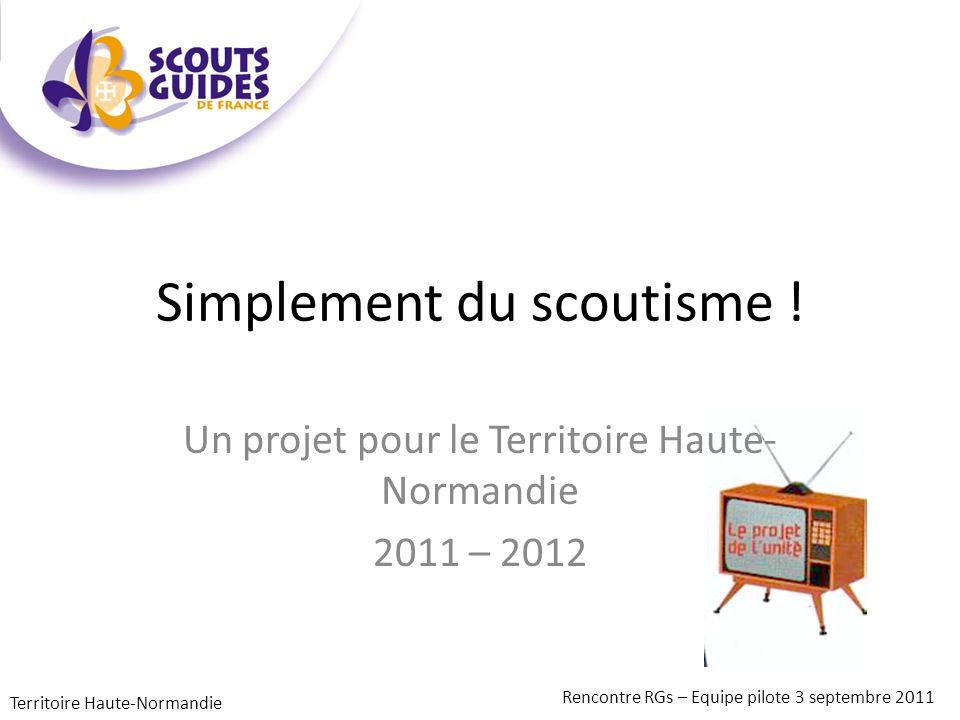 Analyse : La dynamique du territoire est à relancer, en la partageant Territoire Haute-Normandie Rencontre RGs – Equipe pilote 3 septembre 2011