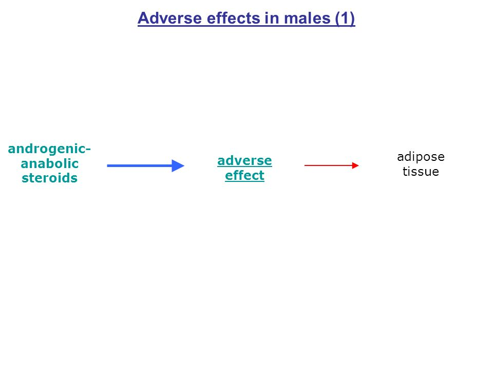 Adverse effects in males (1) androgenic- anabolic steroids adverse effect adipose tissue