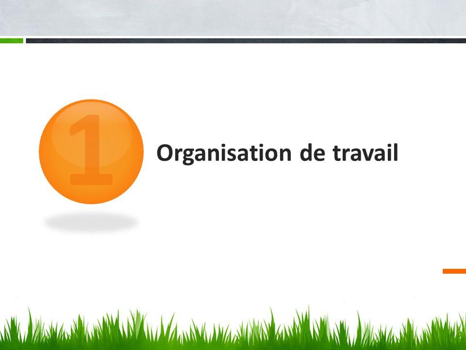 Organisation de travail 1