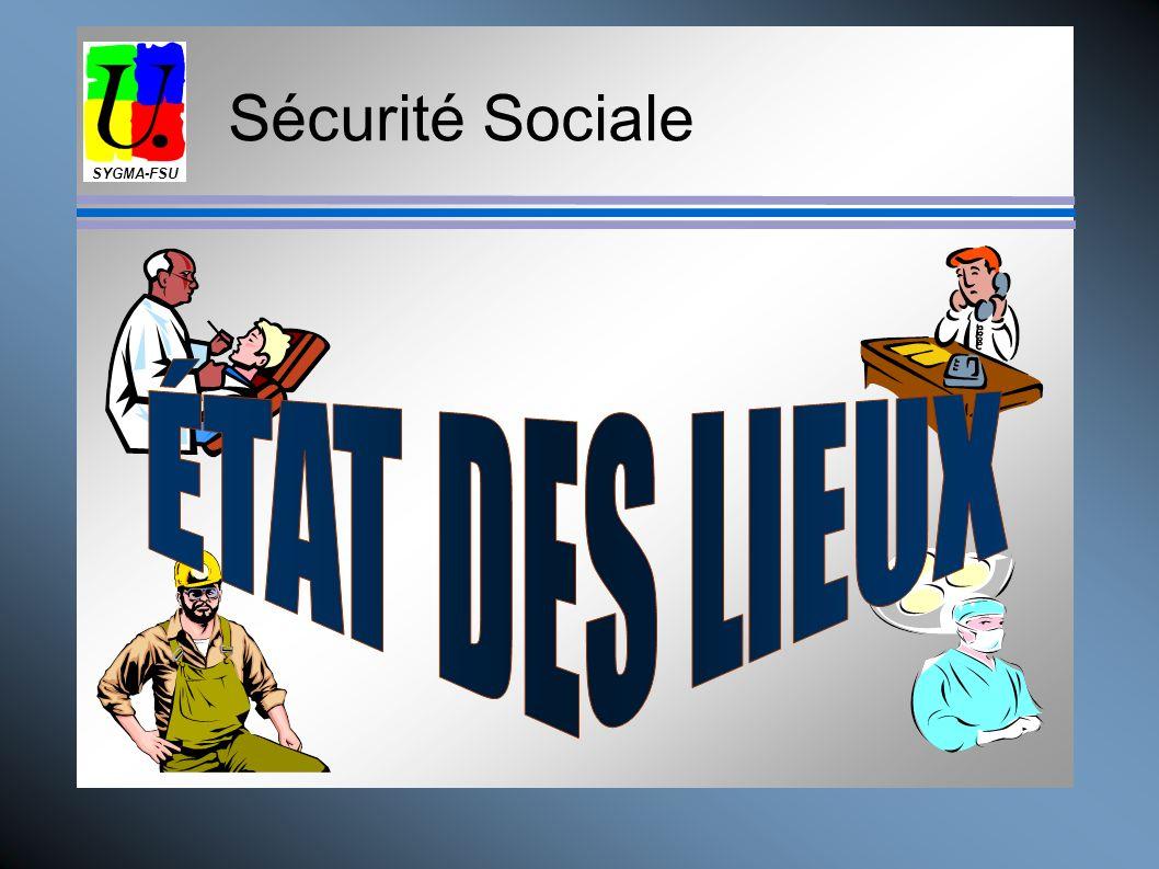 Sécurité Sociale La Santé, ça ne se marchande pas ! SYGMA FSU Pour une assurance santé de haut niveau, garantissant des droits égaux pour tous Financé