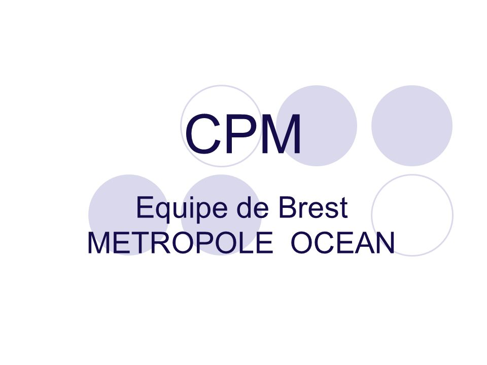 CPM Equipe de Brest METROPOLE OCEAN