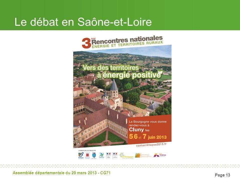 Page 13 Assemblée départementale du 29 mars 2013 - CG71 Le débat en Saône-et-Loire