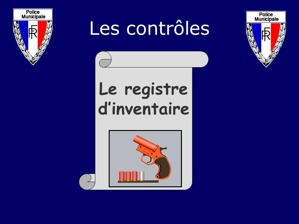 Le registre dinventaire Les contrôles