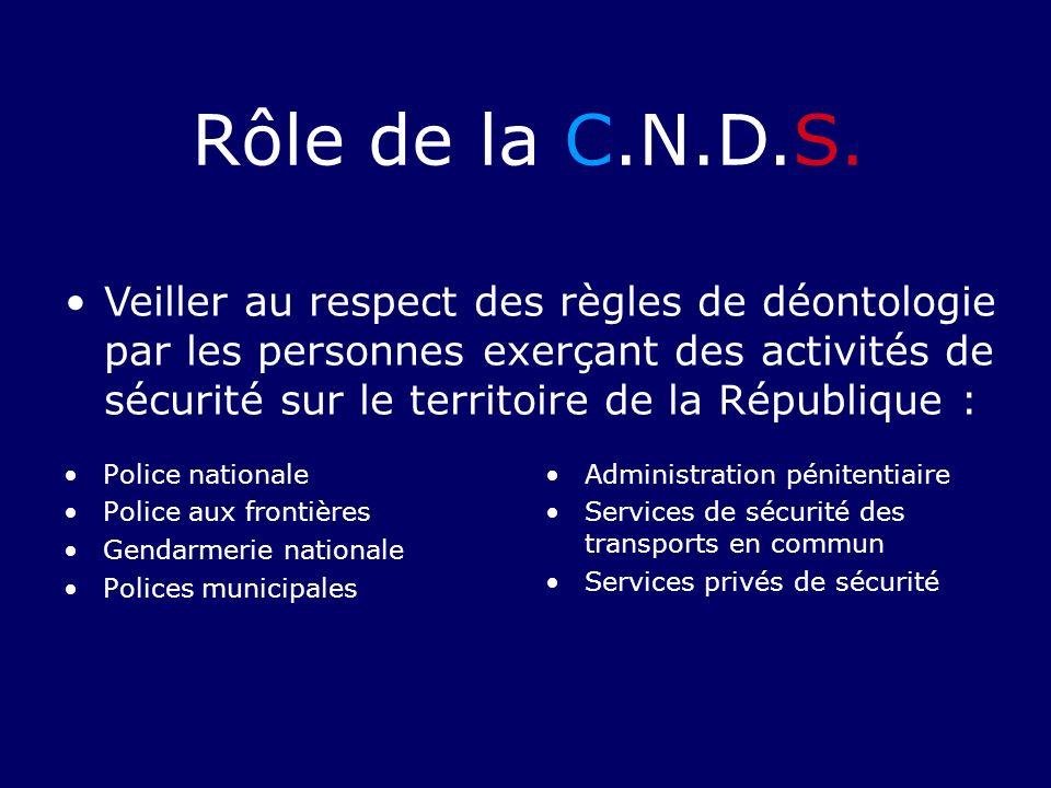 Police nationale Police aux frontières Gendarmerie nationale Polices municipales Administration pénitentiaire Services de sécurité des transports en c
