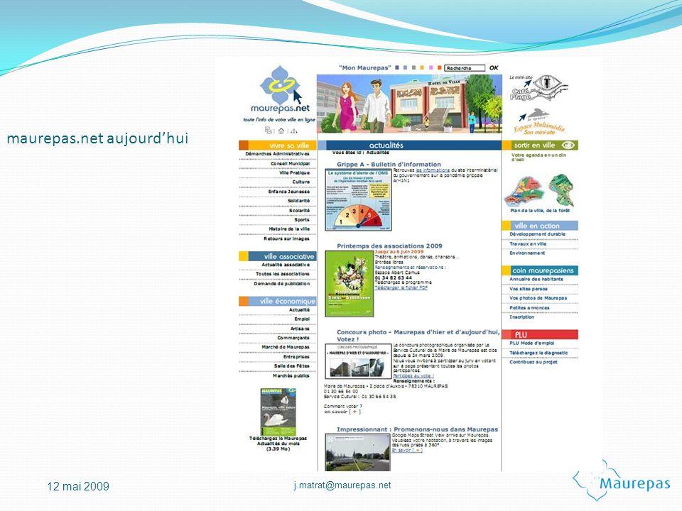 j.matrat@maurepas.net 12 mai 2009 maurepas.net aujourdhui