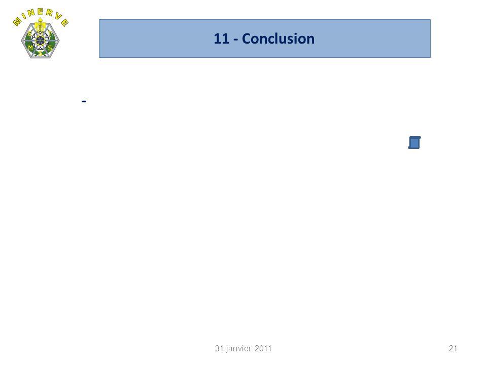 11 - Conclusion 21 - 31 janvier 2011