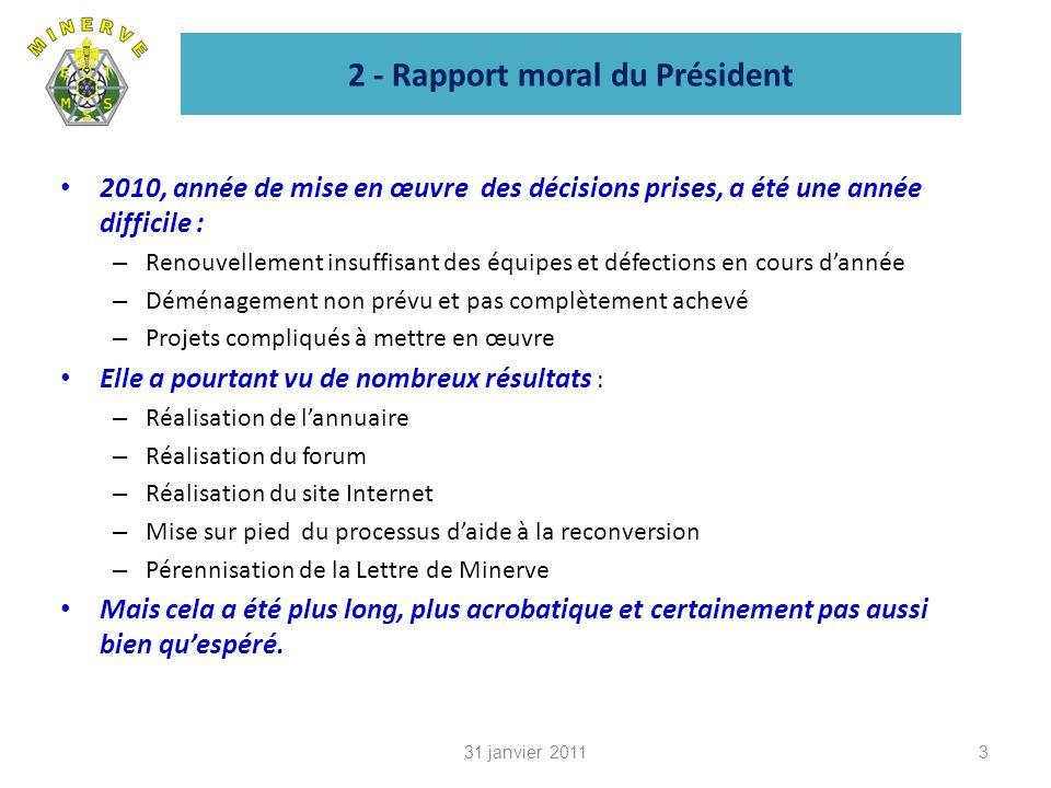 7 - Budget prévisionnel 2011 1431 janvier 2011