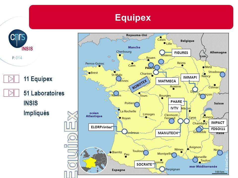 P. 014 INSIS Equipex FDSOI11 PHARE SOCRATE MATMECA ELORPrintec FIGURES IMPACT MANUTECH IVTV ROBOTEX IMMAPI 11 Equipex 51 Laboratoires INSIS Impliqués