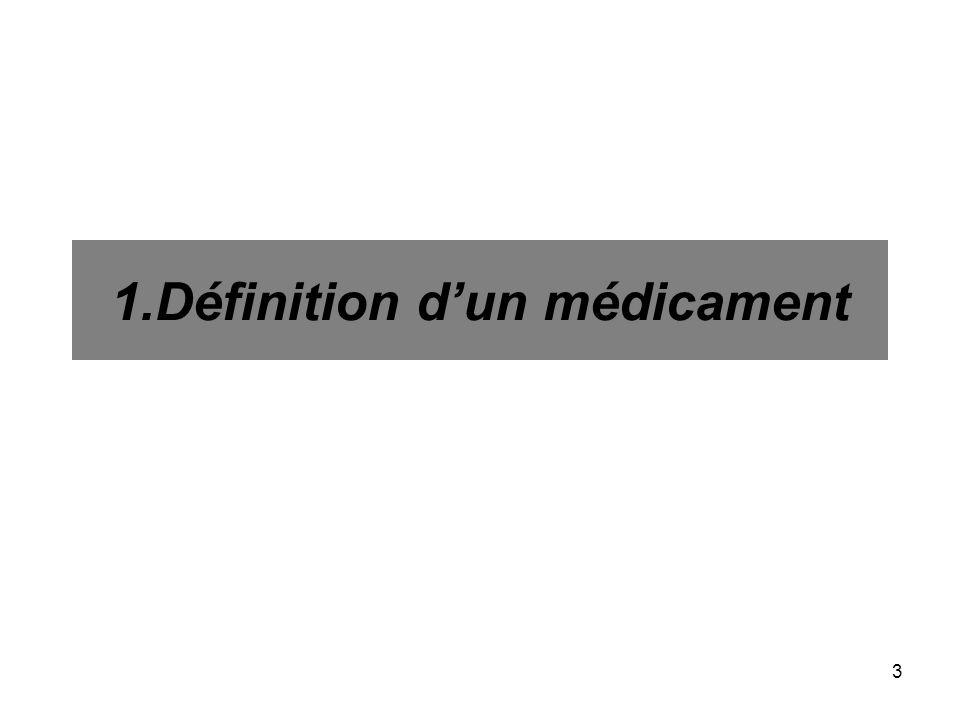 3 1.Définition dun médicament
