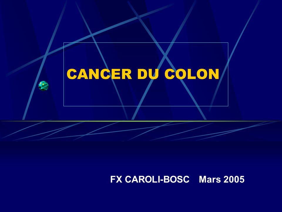 FILIATION ADENOME-CANCER : La preuve par 2 Reliquats Macroscopie adénomateux de la tumeur Côte dOr 80% 80% bourgeonnant Japon 20% 80% infiltrant