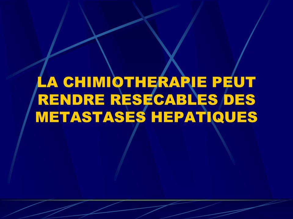 LA CHIMIOTHERAPIE PEUT RENDRE RESECABLES DES METASTASES HEPATIQUES