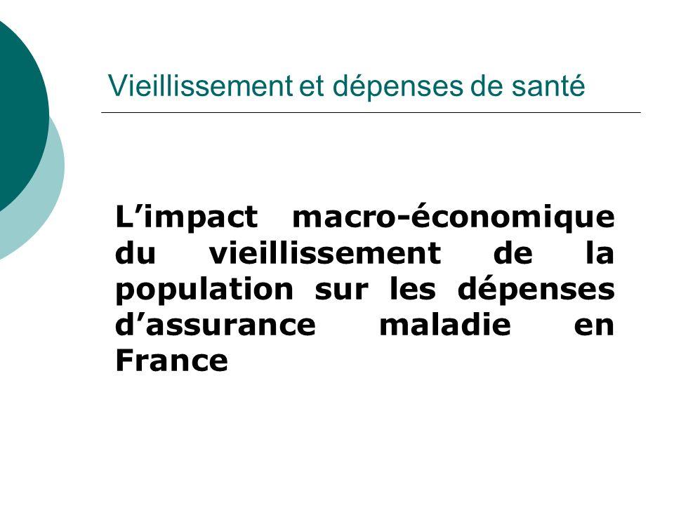 Vieillissement et dépenses de santé Limpact macro-économique du vieillissement de la population sur les dépenses dassurance maladie en France
