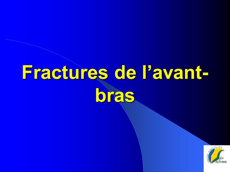 Fractures de lavant- bras