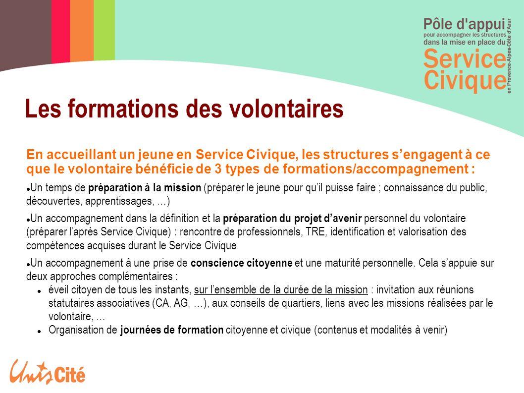 Formation civique et citoyenne quelques premiers éléments : Objectifs : Renforcer le sens civique des volontaires et les sensibiliser sur les enjeux de la citoyenneté pour en faire des citoyens actifs et responsables, participant à la vie publique.
