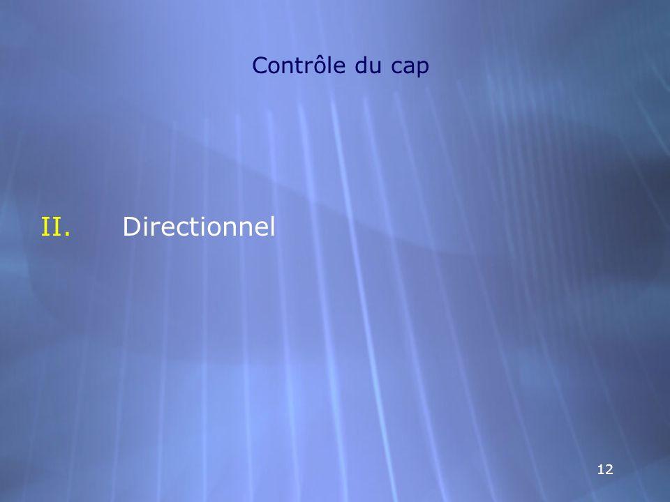 12 Contrôle du cap II.Directionnel