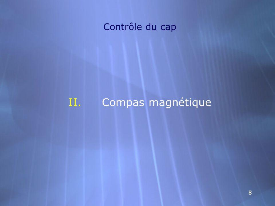 99 Contrôle du cap Compas magnétique -Description: Instruments servant à indiquer le cap magnétique.