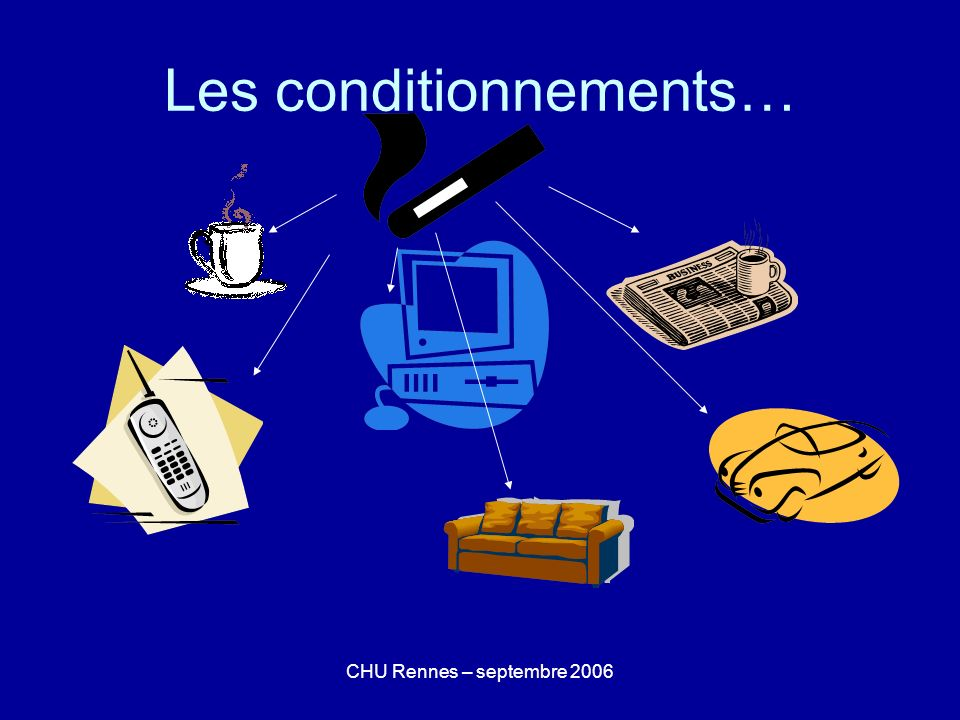 CHU Rennes – septembre 2006 Les conditionnements…