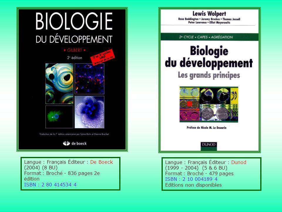 Langue : Fran ç ais É diteur : De Boeck (2004) (8 BU) Format : Broch é - 836 pages 2e é dition ISBN : 2 80 414534 4 Langue : Fran ç ais É diteur : Dun