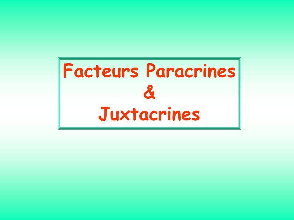 Facteurs Paracrines & Juxtacrines