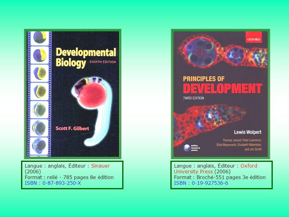 Langue : anglais, É diteur : Sinauer (2006) Format : reli é - 785 pages 8e é dition ISBN : 0-87-893-250-X Langue : anglais, É diteur : Oxford Universi