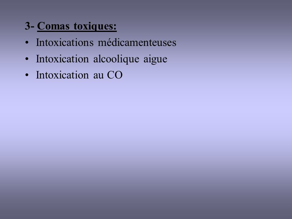 CAS PARTICULIERS Mort cérébrale: conséquence dun arrêt de la perfusion cérébrale, 1% des décès en France - critères cliniques: coma profond sans circonstances confondantes (sédation, hypothermie, intox), absence de réflexes du TC, absence de ventilation spontanée (test débranchement) - critères paracliniques: artério, angioTDM, EEG Protocoles de réanimation dorganes