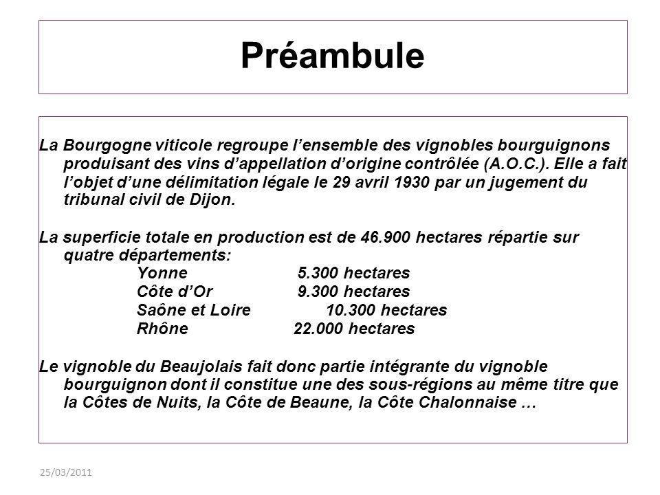 25/03/2011 Le Beaujolais est-il vraiment Bourgogne.