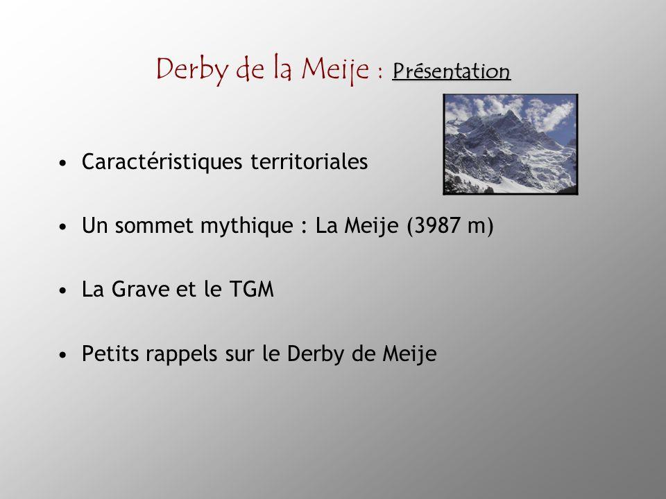 Renommée Derby de la Meije : Renommée Histoire Performance Affluence Avantage réputationnel Performance : les meilleurs « pro riders » ont participé au Derby de la Meije : E.