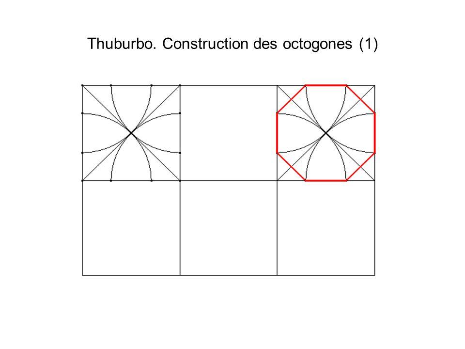 Thuburbo. Construction des octogones (2)