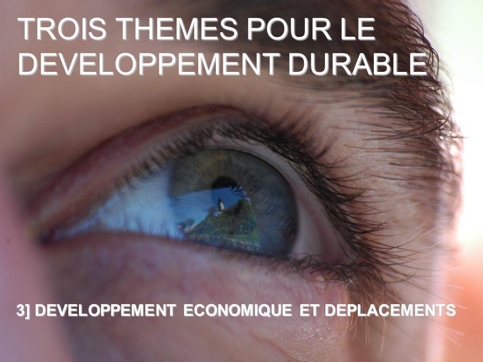 TROIS THEMES POUR LE DEVELOPPEMENT DURABLE 3] DEVELOPPEMENT ECONOMIQUE ET DEPLACEMENTS