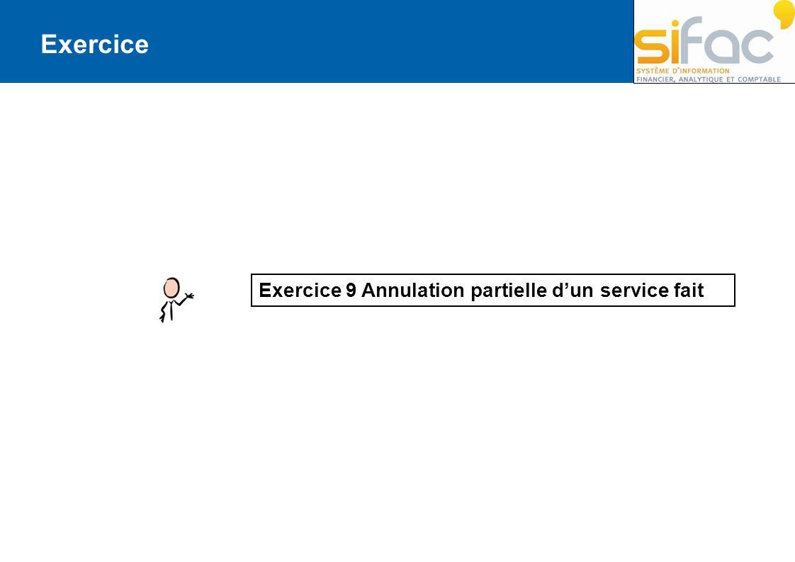 Exercice Exercice 9 Annulation partielle dun service fait
