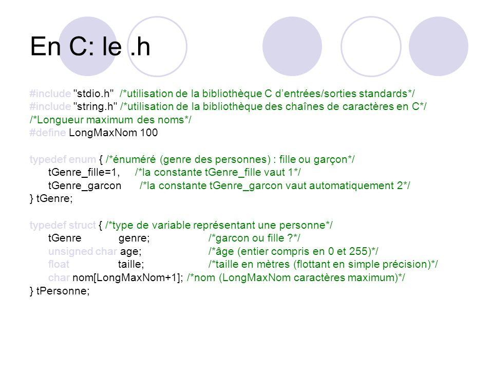 En C: le.h #include