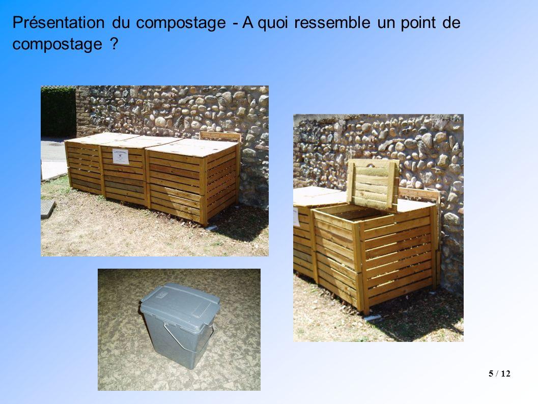5 / 12 Présentation du compostage - A quoi ressemble un point de compostage ?