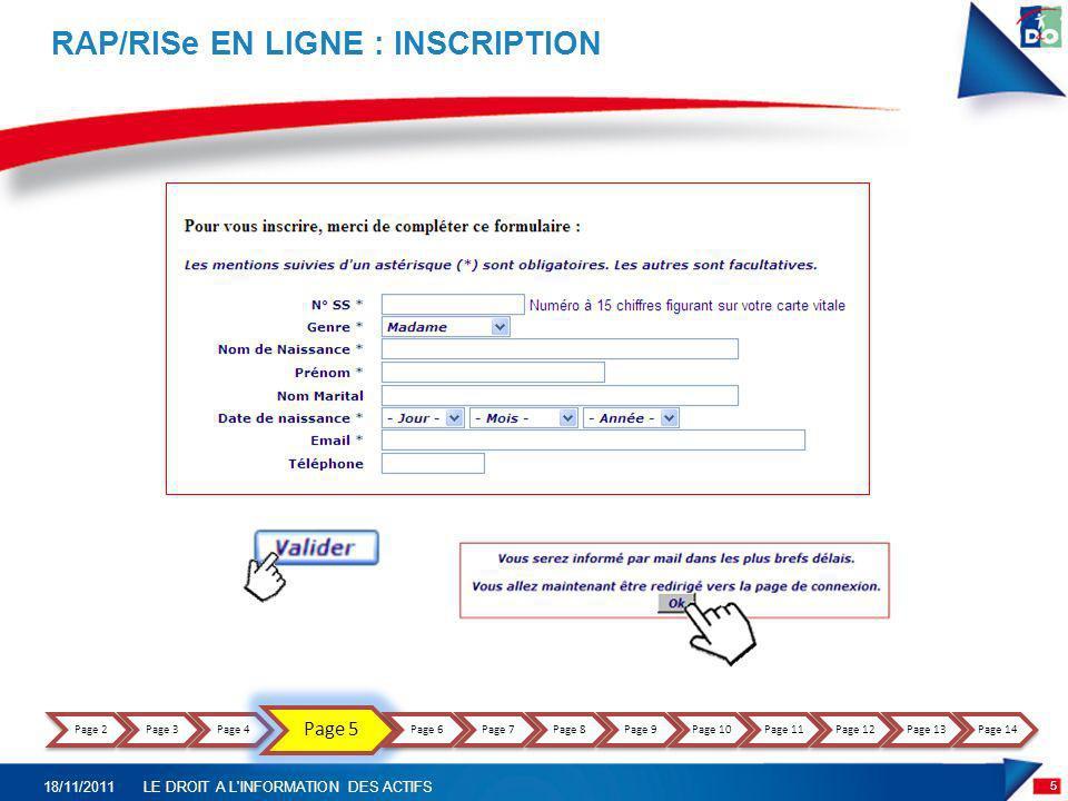 RAP/RISe EN LIGNE : EMAIL DE VALIDATION Madame, Monsieur, Vous souhaitez vous inscrire au relevé de situation des droits en ligne (RAP ou RISe).