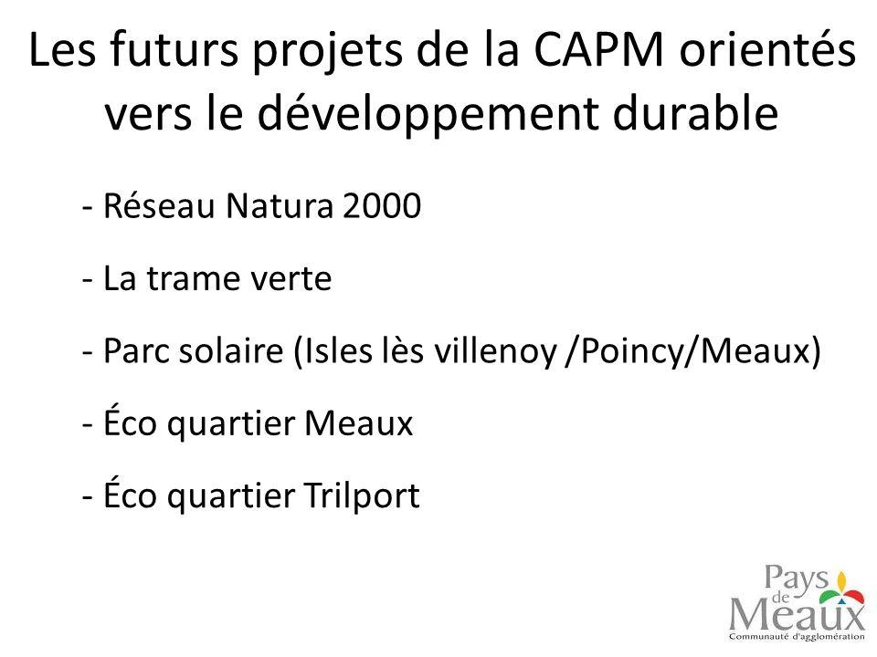 Les futurs projets de la CAPM orientés vers le développement durable - Réseau Natura 2000 - Parc solaire (Isles lès villenoy /Poincy/Meaux) - La trame