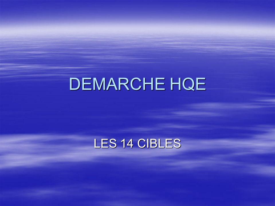 DEMARCHE HQE LES 14 CIBLES