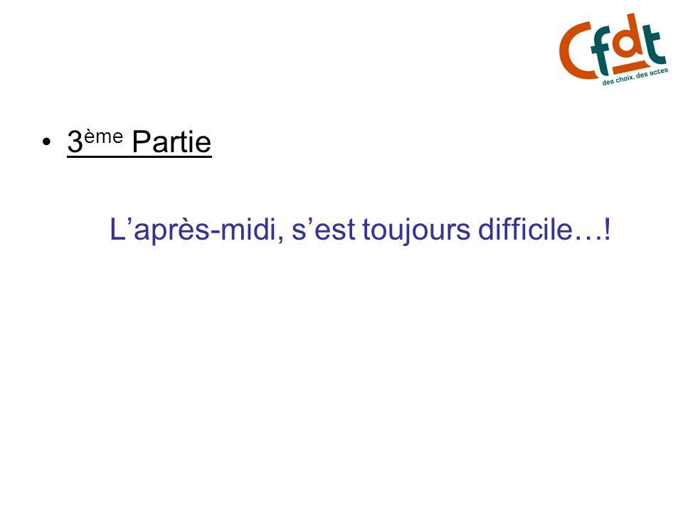 3 ème Partie Laprès-midi, sest toujours difficile…!