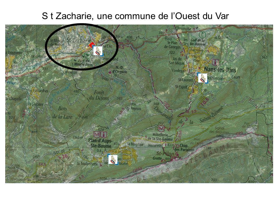 S t Zacharie, une commune de lOuest du Var