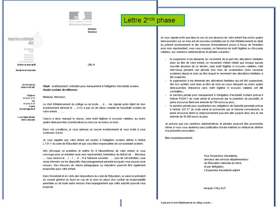 Lettre 2 nde phase