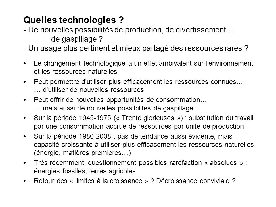 Quelles technologies .