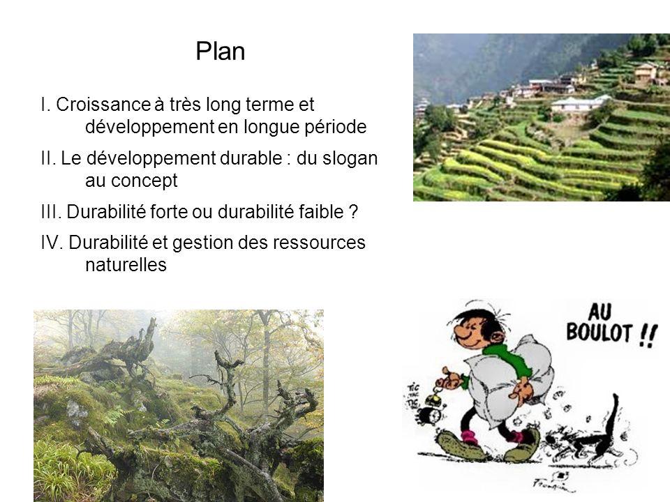 Plan I.Croissance à très long terme et développement en longue période II.