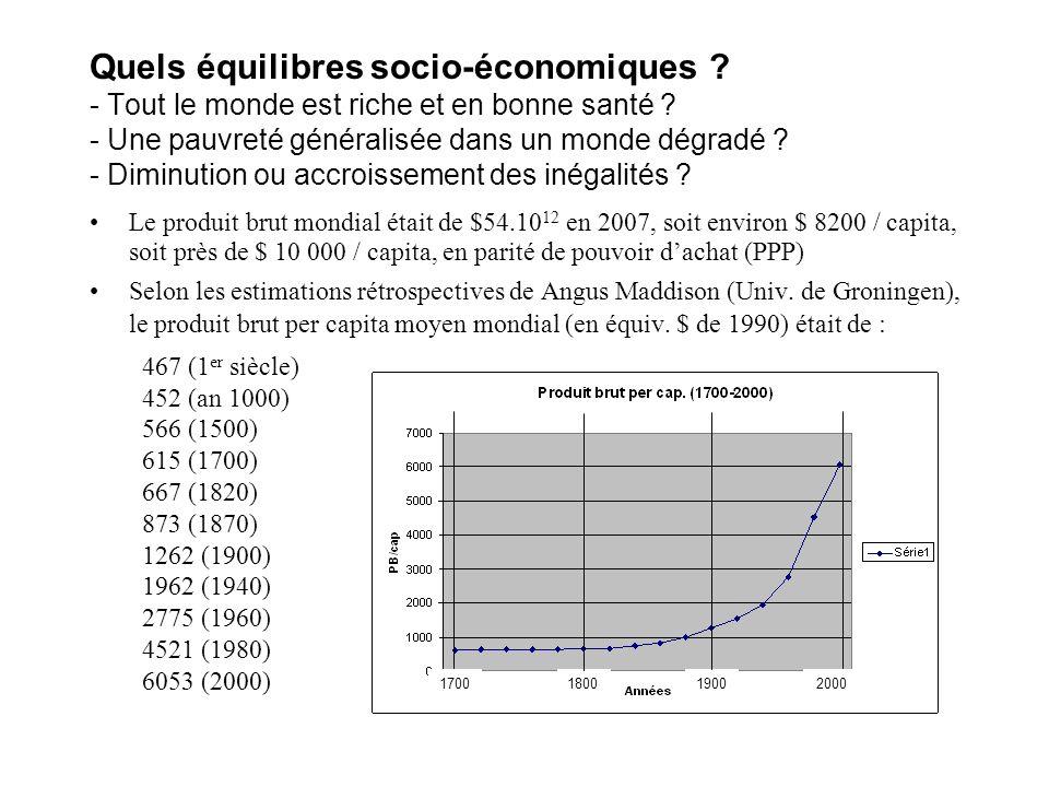 Quels équilibres socio-économiques .- Tout le monde est riche et en bonne santé .