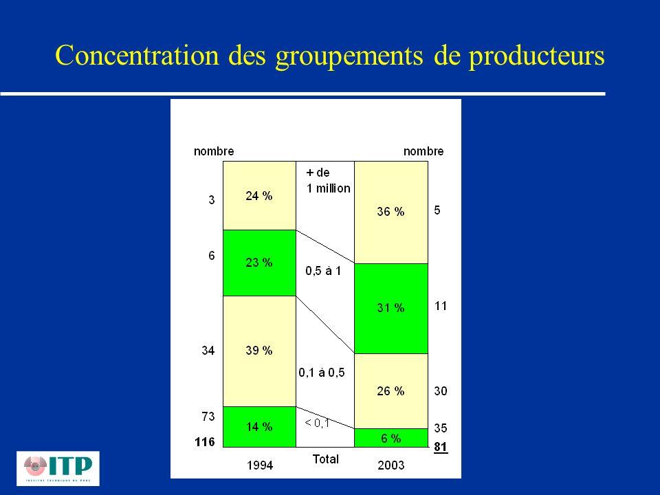 Concentration des groupements de producteurs
