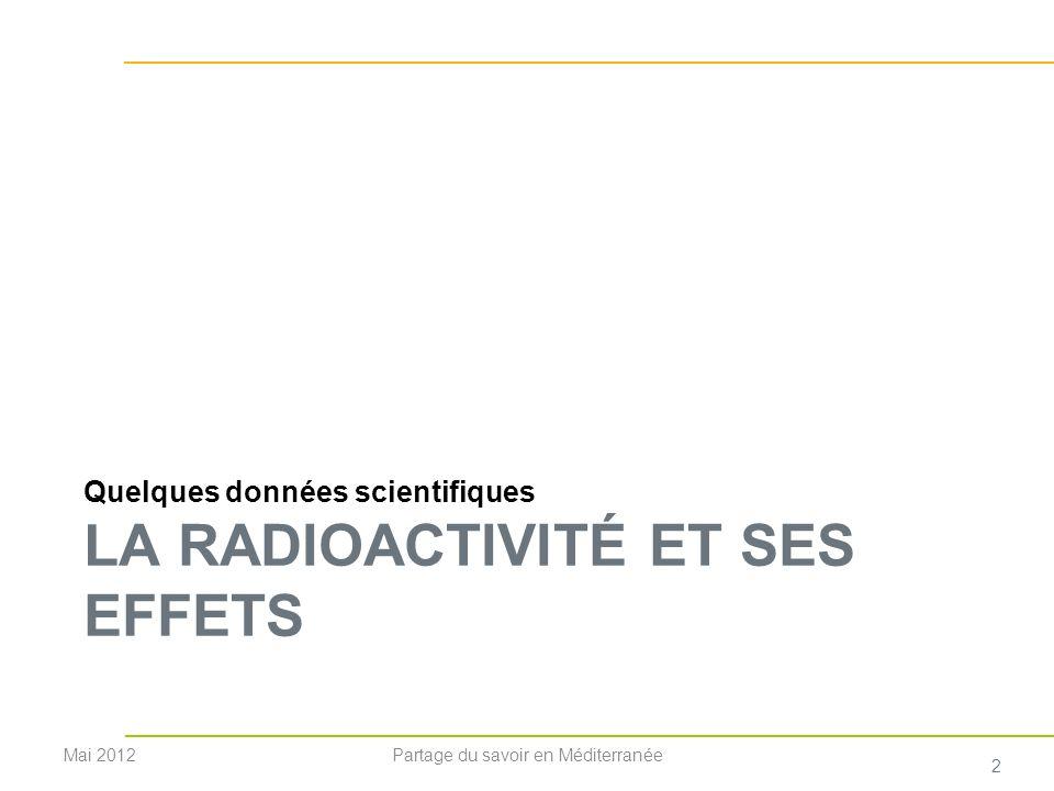 La radioactivité Bq - Becquerel qui décroît progressivement (le nombre de transformations est proportionnel au nombre datomes instables présents) qui disparaît plus ou moins rapidement.