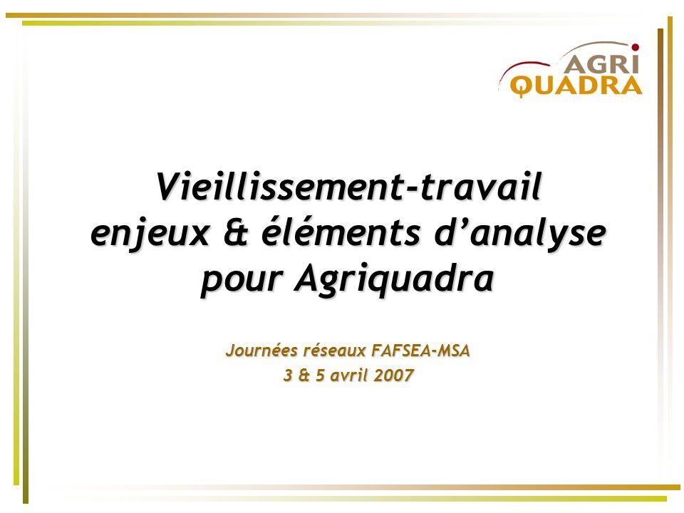 Vieillissement-travail enjeux & éléments danalyse pour Agriquadra Journées réseaux FAFSEA-MSA 3 & 5 avril 2007