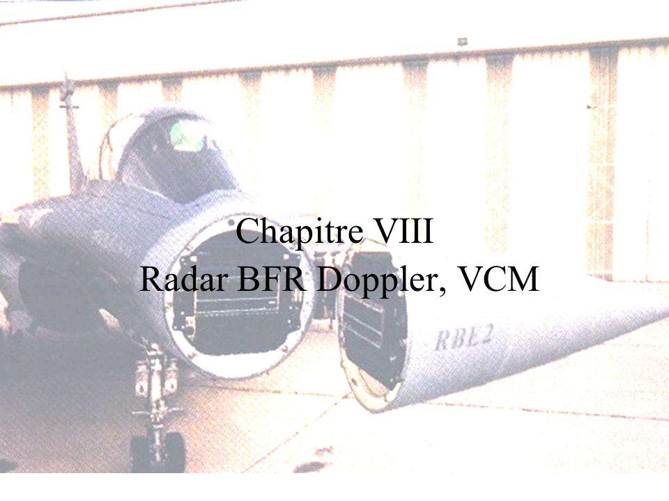 Chapitre VIII Radar BFR Doppler, VCM