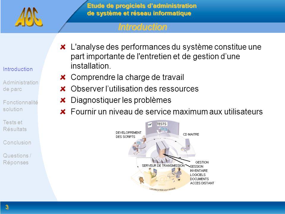 3 3 Introduction L'analyse des performances du système constitue une part importante de l'entretien et de gestion dune installation. Comprendre la cha